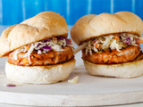 BBQ Chicken Burgers with Slaw