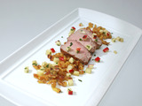 Pan Roasted Pork Tenderloin with Mustard Spaetzle and Apple Cilantro Salsa