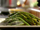 Roasted Asparagus with Rhubarb Vinegar