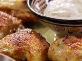 Roasted Curry Chicken Thighs with Yogurt Cumin Sauce