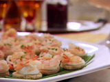 Shrimp with Horseradish Canapes