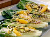 Orange and Blue Grilled Romaine Salad