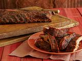 Spice Rubbed Smoked Ribs with Maple-Horseradish Baste