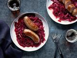 Bratwurst with Sweet-and-Sour Cabbage