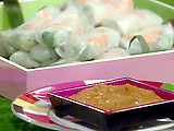 Shrimp Spring Rolls with Peanut Dipping Sauce