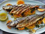 Grilled Whole Mediterranean Fish with Aged Sherry-Vinegar-Tarragon Vinaigrette