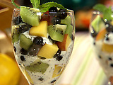 Fresh Fruit Parfait with Lemon-Poppy Seed Yogurt