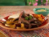 Red Curry Marinated Skirt Steak Fajitas
