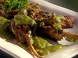 Grilled Baby Lamb Chops with Mint Pesto