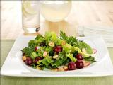 Spiced Almond, Grape and Mixed Green Salad