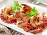Grilled Shrimp with Bacon, Tomato and Scallion Vinaigrette