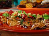 Grilled Chicken Salad with Apricot Glaze, Homemade Mustard Vinaigrette and Grape Salad