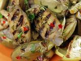 Grilled Baby Artichokes with Mixed Herbs Vinaigrette