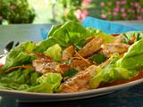 Smoked Trout Lettuce Wraps with Meyer Lemon Dressing and Carrots