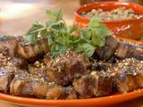 Apricot Glazed Lamb Chops with Pistachio and Sumac