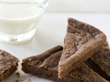 Chocolate Shortbread with White Chocolate Sauce