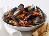 Mussels With Tomatoes and Salami