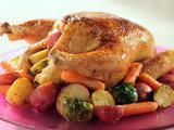 Maple Glazed Chicken with Roasted Country Vegetables