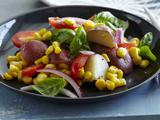 Potato, Tomato, Corn and Basil Salad