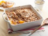 Peach Crisp with Maple Cream Sauce