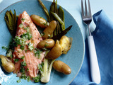 Slow-Roasted Salmon with Potatoes