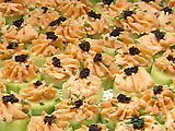 Smoked Salmon Mousse in Cucumber Boats