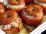 Tomatoes Stuffed with Rice