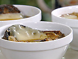 Guinness and Onion Soup with Irish Cheddar Crouton