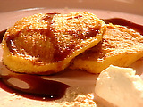 Squash Pancakes with Fig Syrup