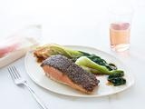 Chia Crusted Salmon with Soy Bok Choy