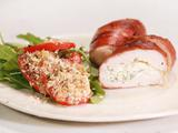 Stuffed Chicken Saltimbocca with Arugula and Tomato Salad