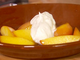 Baked Nectarines with Greek Yogurt and Honey