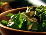 Italian Winter Greens with Pear-Walnut Dressing