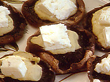 Grilled Portobello Mushrooms with Hummus and Feta Cheese