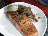 Glazed Salmon with Braised Fennel