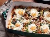 Mushroom-Spinach Baked Eggs