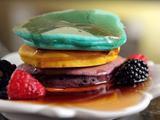 Rainbow Silver Dollar Pancakes