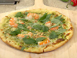 Grilled Shrimp and Cilantro Pesto Pizza