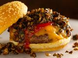 Wild Mushroom-Cheddar Burger