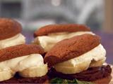 Peanut Butter, Chocolate and Banana Cookie Sandwiches
