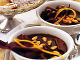 Espresso Chocolate Pudding with Pine Nuts: Sanguinaccio