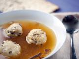 Truffled, Shiitake Matzo Ball Soup