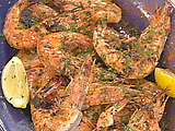 Grilled Whole Shrimp with Lemon and Marjoram