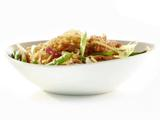 Hot and Sticky Noodle Bowls with Chicken, Chiles and Green Beans