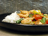 Thai Shrimp Stir-fry with Tomatoes and Basil - Slimmed