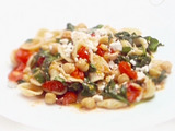 Orecchiette with Greens, Garbanzo Beans and Ricotta Salata