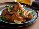 Crisp Chicken Wings with Chili-Lime Butter