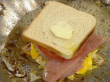 Fried Egg and Ham Sandwich