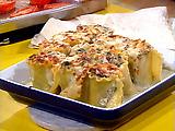 Spinach and Mushroom Lasagna Roll-ups with Gorgonzola Cream Sauce