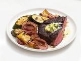 Grilled Steak and Vegetables With Lemon-Herb Butter